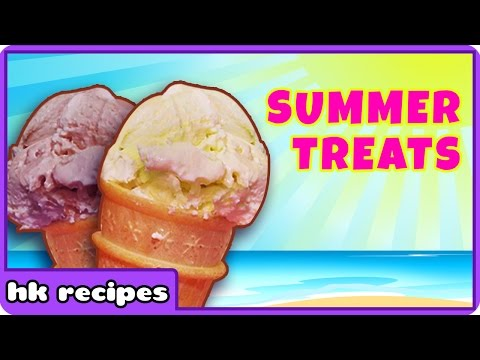Summer Treats : Healthy Home Made Ice Cream Recipe Collection By HooplaKidz Recipes