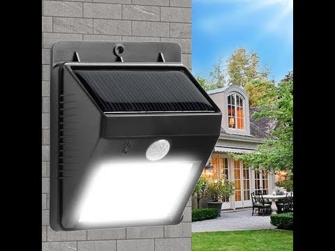 Bright Solar Power Motion Activated Outdoor LED Light