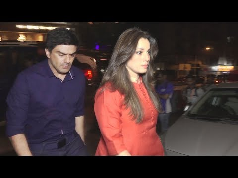 Neelam Kothari & Sameer Soni Spotted At Juhu Restaurant After Blackbuck Verdict