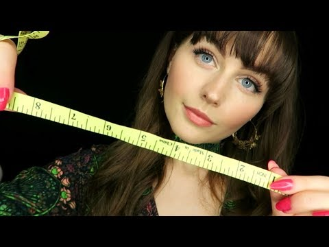 ASMR~semi inaudible face measuring for personal attention relaxation