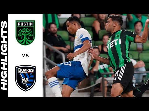 Austin FC San Jose Earthquakes Goals And Highlights