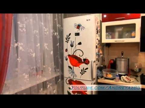 Виниловая наклейка на холодильник - результат