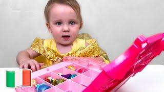 Cinque Bambini Nuovo vestito da principessa Elsa