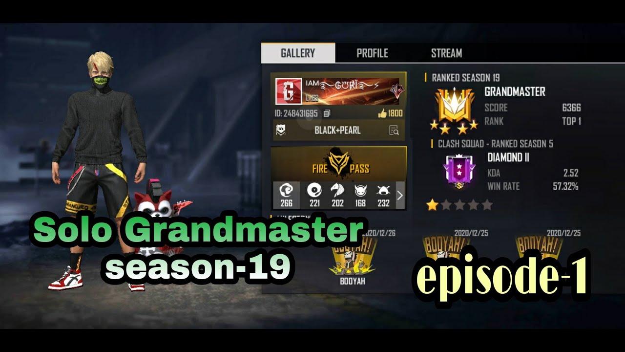 Download Road to Grandmaster season-19 | solo Grandmaster push | solo Grandmaster gameplay | episode-1