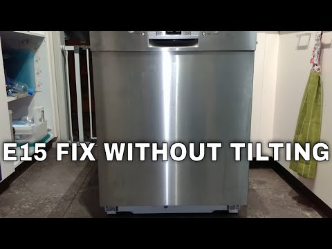 Bosch Dishwasher E15 error code permanent fix