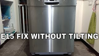 Bosch Dishwasher E15 error code permanent fix