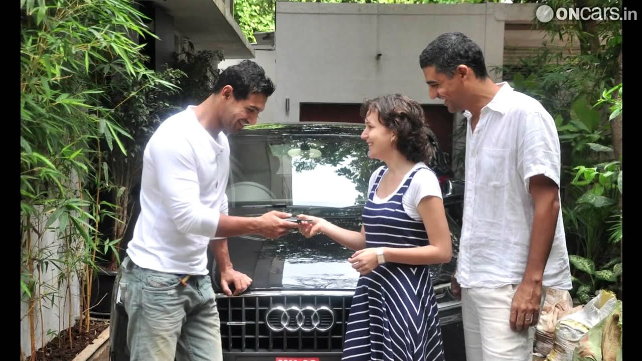 John Abraham gifts Audi Q3 to his sister-in-law - YouTube
