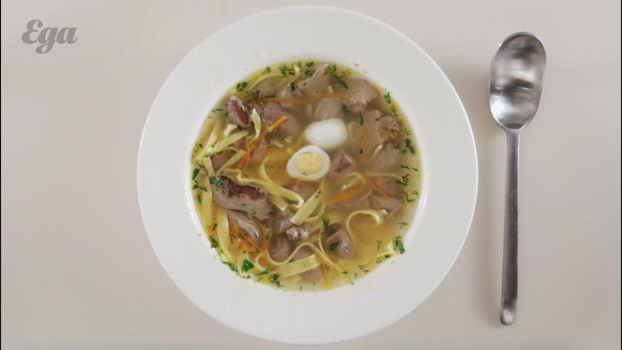 Суп-лапша с куриными потрохами. Подробный рецепт