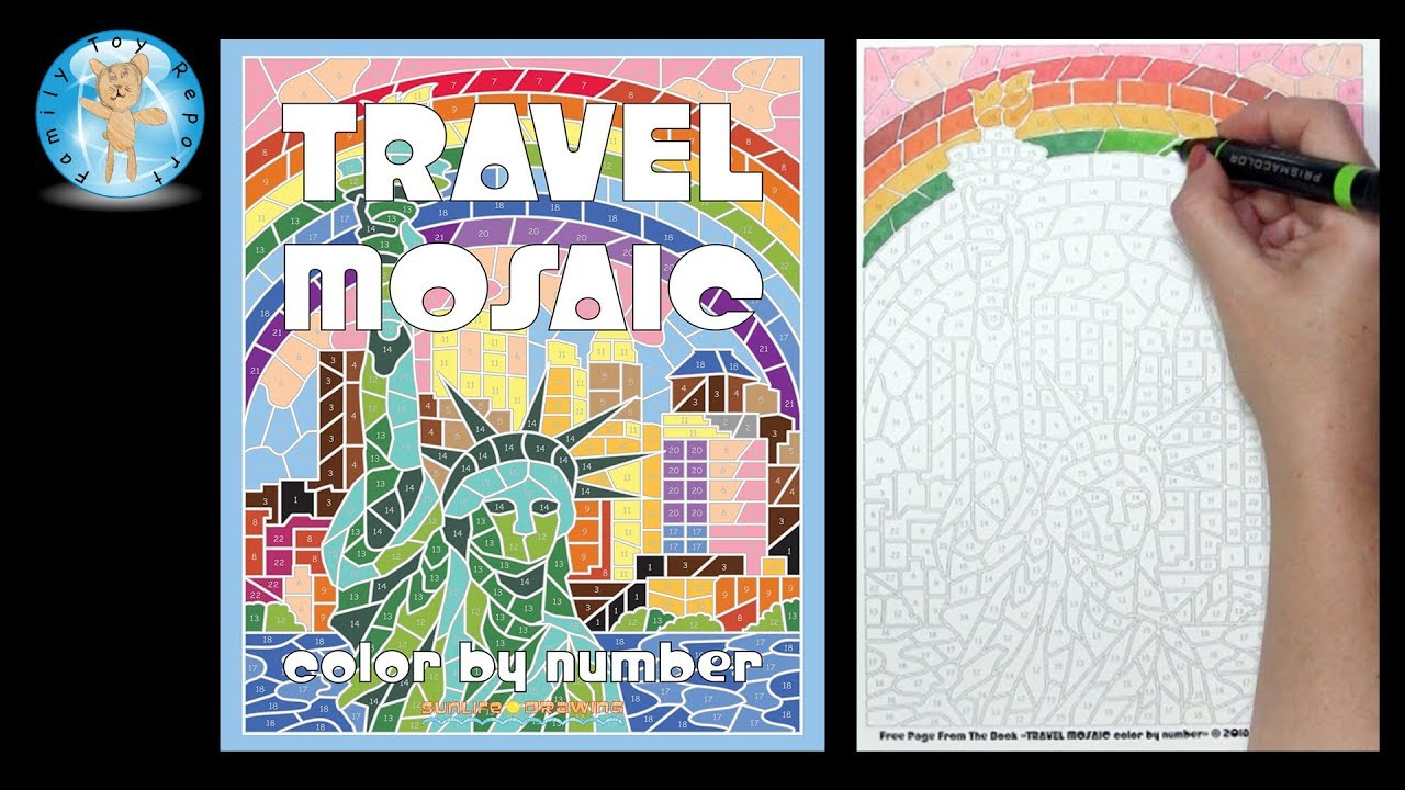 Travel Mosaic Color By Number Coloring Book By Sunlife Drawing