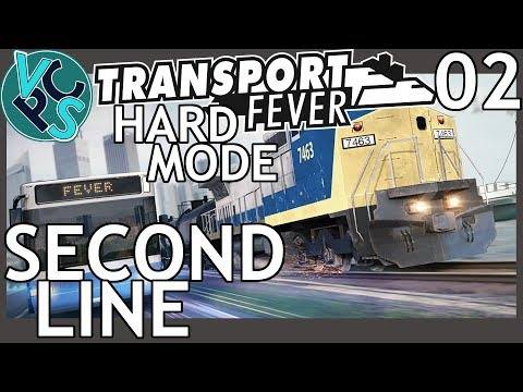 Second Line : Transport Fever EP02 - Hard Mode Hilly Map – Train Management Fun