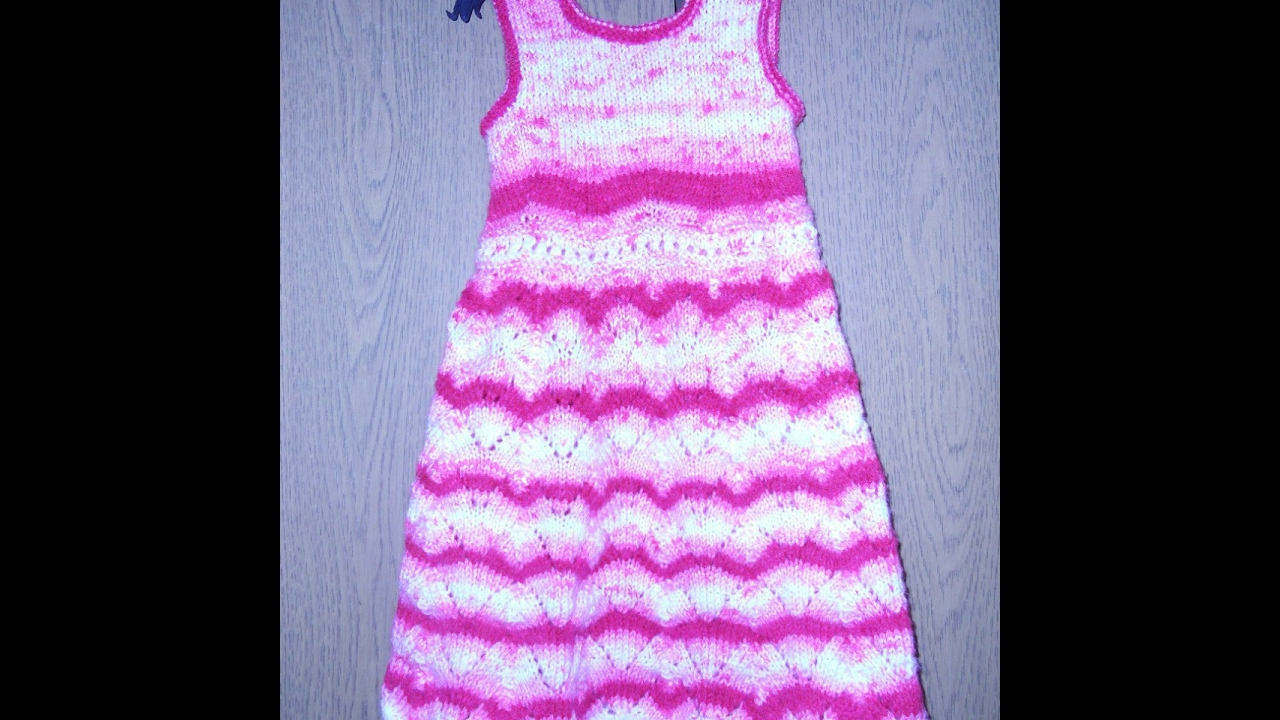 Vestido tejido a crochet para niña de 8 a 10 años - YouTube