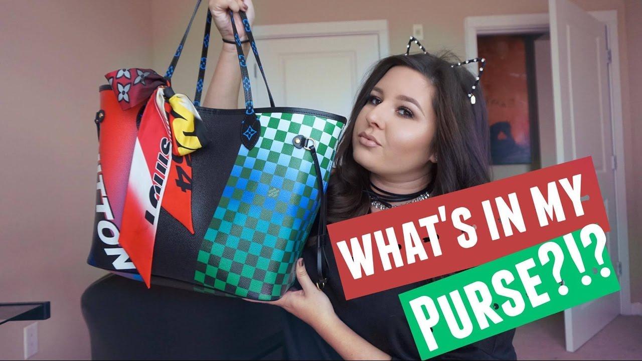 louis vuitton cruise 2017 bags. what\u0027s in my bag?? louis vuitton race neverfull mm (cruise 2017) - youtube cruise 2017 bags n