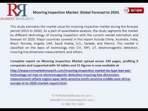 Mooring Inspection Market is Estimated to Grow at a CAGR of 3.4% Between 2015 and 2020.