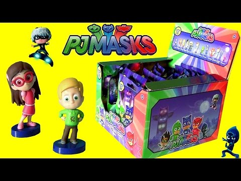pj masks complete set mystery blind bags full case opening with