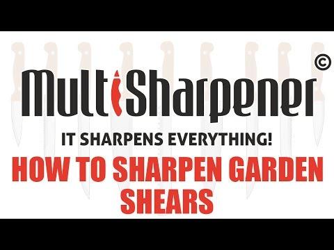 How To Sharpen Garden Shears Youtube