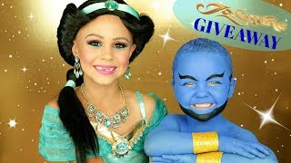 Jasmine and Genie Costumes and Makeup! + AMAZING GIVEAWAY