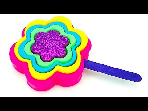 Пластилин для детей, лепим мороженое цветочки. Учимся лепить из пластилина. Игрушкин ТВ