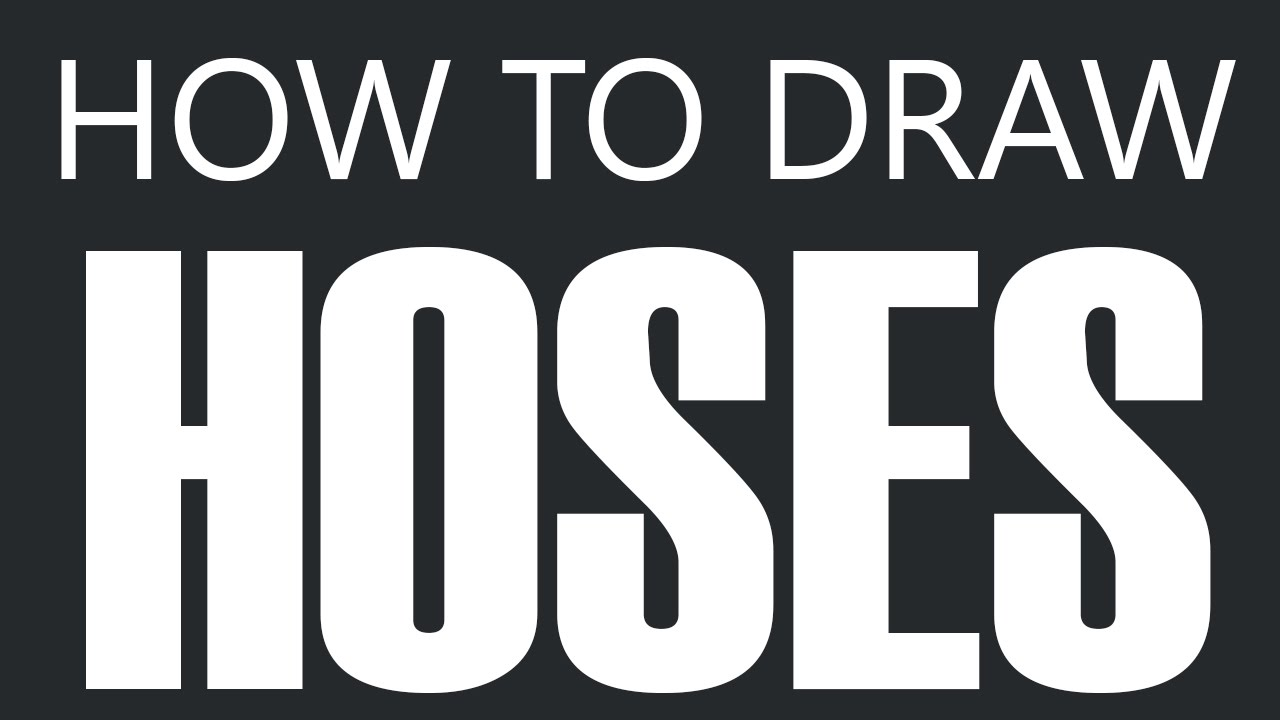 How To Draw A Hose - Water Hose Drawing (Garden Hoses) - YouTube