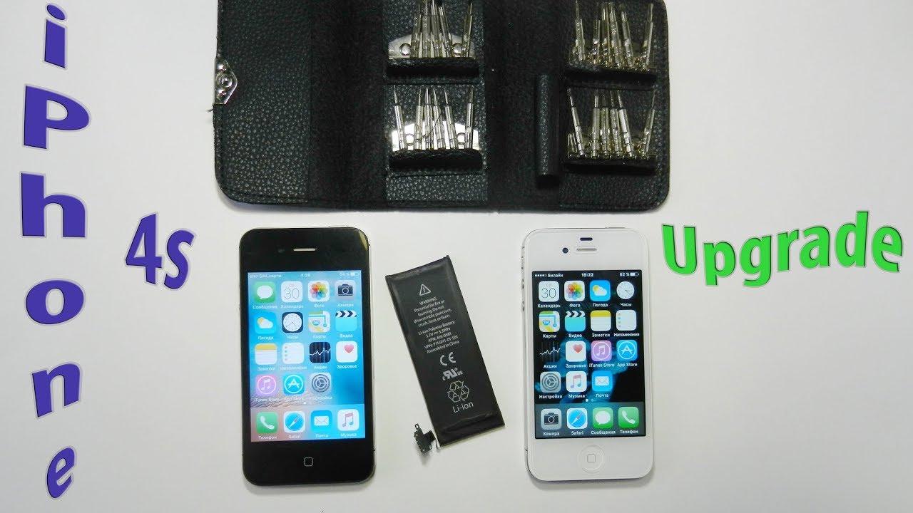 самостоятельная замена батареи iphone 4s
