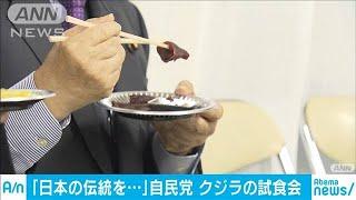 自民がクジラ料理の試食会 再開した商業捕鯨を支援(19/10/10)