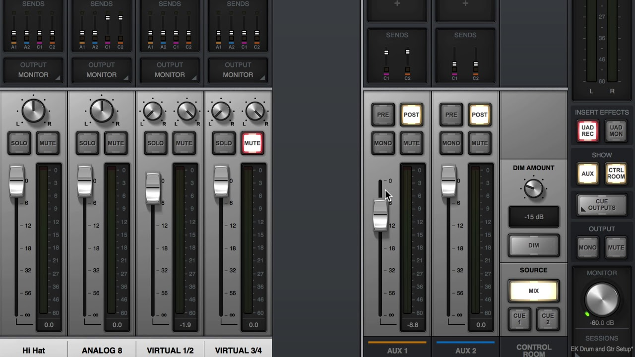 How to Make a Headphone Mix : Universal Audio Apollo 8p and Logic