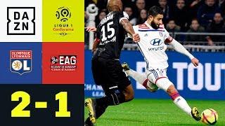 Nabil Fekir mit Tor zum Zungeschnalzen: Olympique Lyon - Guingamp 2:1 | Ligue 1 | DAZN Highlights