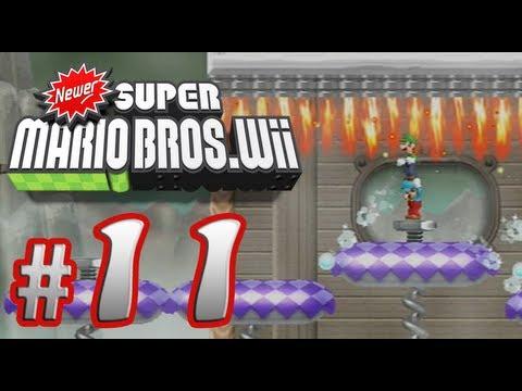 Newer Super Mario Bros. Wii - 100% Co-op Walkthrough Part 11