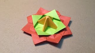 【折り紙(おりがみ)】 遊べる簡単なコマの折り方 作り方 thumbnail
