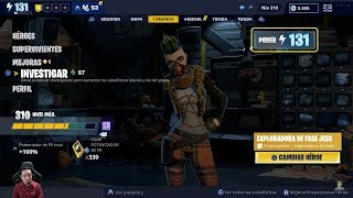 Level 131 MAXIMUM OF The Mythical Phase Explorer Globe-St. Game SAVE THE FORTnite WORLD