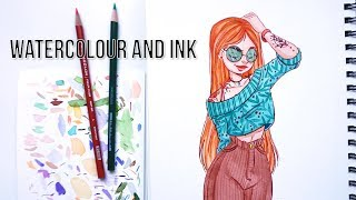 Draw with Me | Watercolour and Waterproof ink | Liz Lapointe