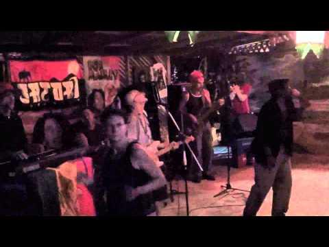 Concert of Plan B in Cahuita, Reggea Bar, Black Beach, Costa Rica