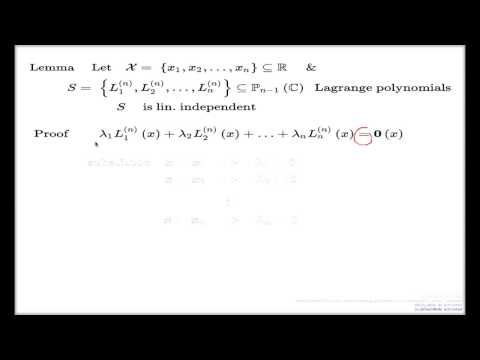 Lagrange polynomials linearly independent