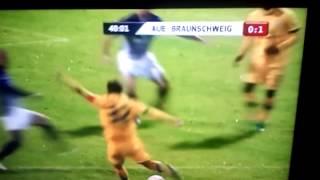 Aue - Braunschweig 0:1 Traumtor Kruppke