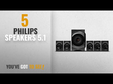 Top 10 Philips Speakers 5.1 [2018]: Philips SPA8000B/94 5.1 Channel Multimedia Speakers System