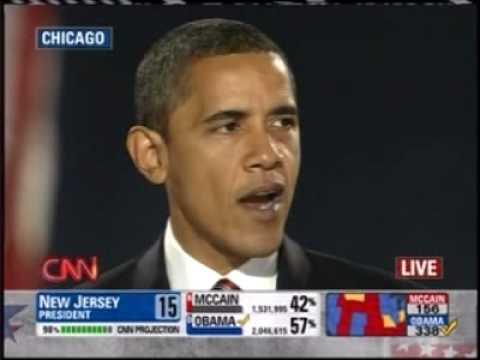 Barack Obama Acceptance Speech November 4 2008 Grant Park, Chicago Illinois PART 2