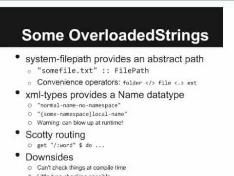 O'Reilly Webcast: Designing Domain Specific Languages with Haskell