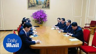 North Korea leader Kim Jong Un meets with South Korean delegation - Daily Mail
