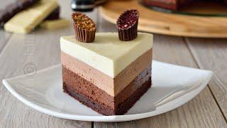 Tort trio de ciocolata (CC Eng Sub) | JamilaCuisine