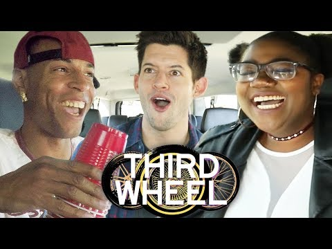 Cup Stack Challenge! | THIRD WHEEL w/ Lauren Elizabeth & Hunter March