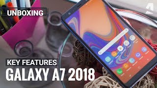 Samsung Galaxy A7 (2018) unboxing and key features
