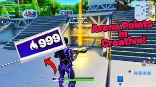 *New* Get ARENA POINTS by playing creative (OP) Fortnite glitches season 9