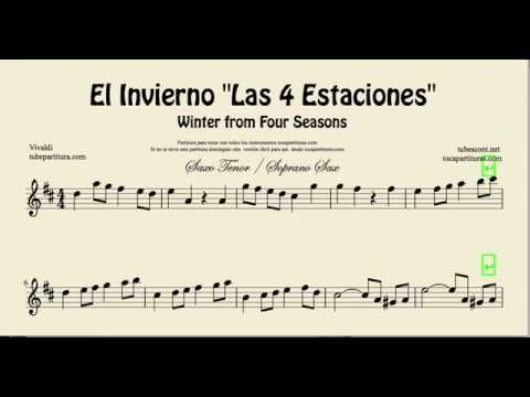 Winter from Four Seasons sheet music for tenor saxophone and soprano saxophone