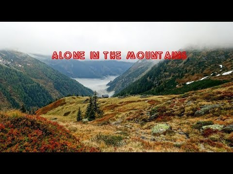 Alone in the mountains