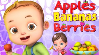 I Like To Eat Apples And Bananas | Nursery Rhymes For Kids | Videogyan 3D Rhymes