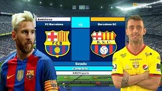 EL PARTIDO MAS EMOCIONANTE DE TODOS LOS TIEMPOS | BARCELONA SC VS FC BARCELONA