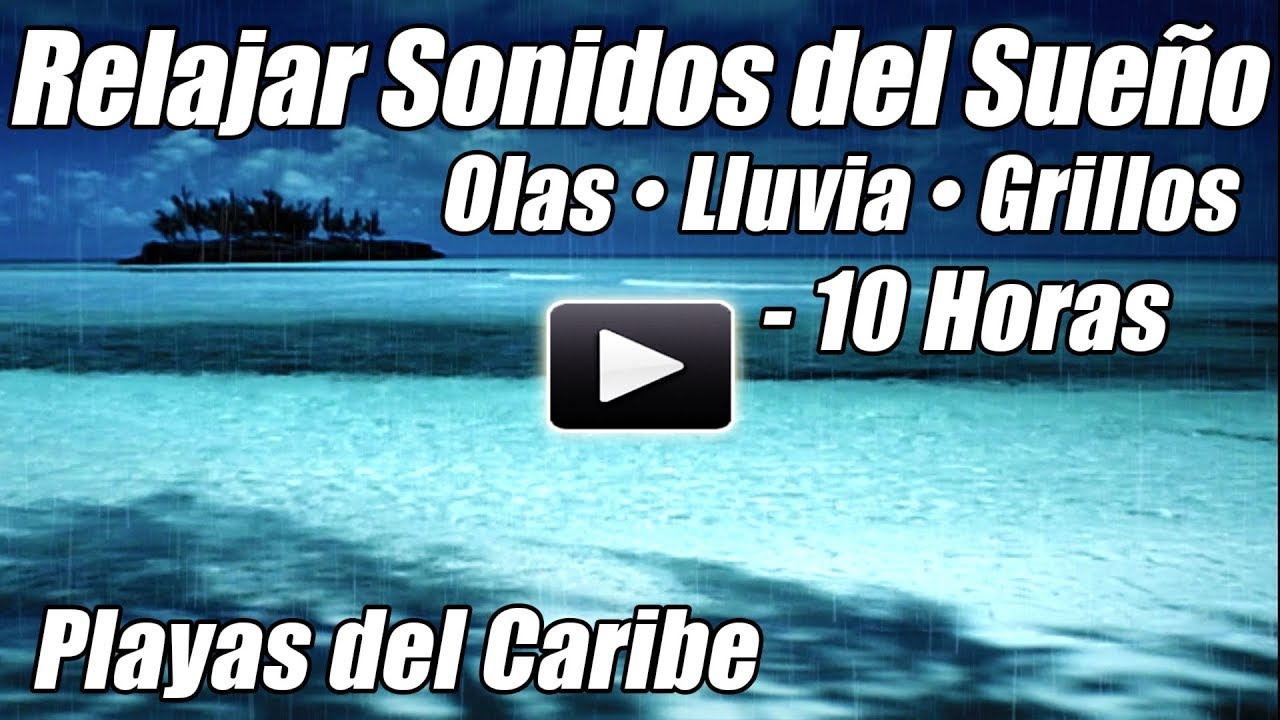 Ondas Oceánicas Lluvia Grillos Sueño Video Relajante Naturaleza Sonidos de Agua Relax Dormir Ruido