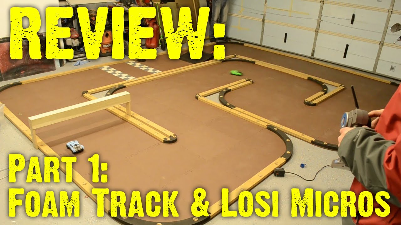 review losi foam track rcp off road track youtube