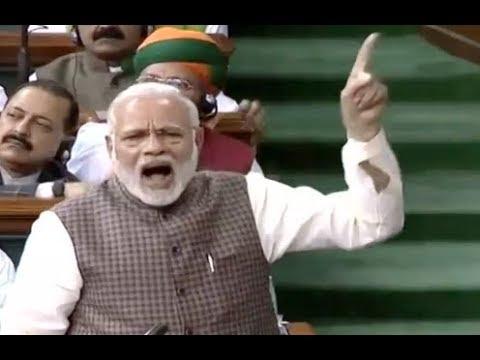 FULL SPEECH : Narendra Modi Speech In Lok Sabha Today...Blames Congress Party...India..