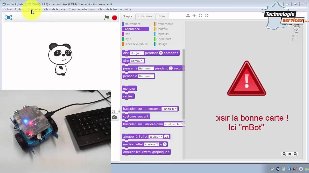 Comment communiquer en Bluetooth avec le mBot dans mBlock