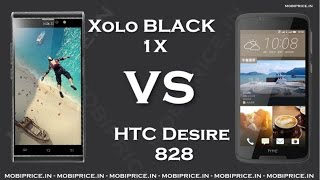 Compare Online HTC Desire 828 VS Xolo BLACK 1X Price, Specification, Review